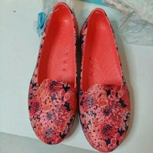 NIB Skechers Goga Max Women's Orange Floral Low To